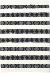Shaula - Nero/Bianco Tappeto 200X300 Moderno Tessuto A Mano Beige/Bianco/Creme (Lana, India)