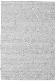 Svea - Grigio Argentato Tappeto 140X200 Moderno Tessuto A Mano Grigio Chiaro/Bianco/Creme (Lana, India)