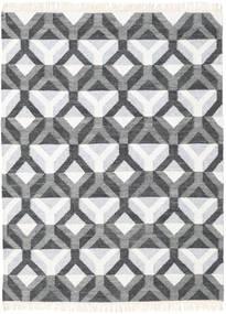 Aino Tappeto 140X200 Moderno Tessuto A Mano Grigio Scuro/Beige/Grigio Chiaro (Lana/Seta Di Bambù, India)