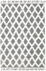Inez - Marrone Scuro/Bianco Tappeto 160X230 Moderno Tessuto A Mano Beige/Grigio Chiaro (Lana, India)