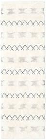 Shedir - Bianco Tappeto 80X250 Moderno Tessuto A Mano Alfombra Pasillo Beige/Bianco/Creme (Lana, India)