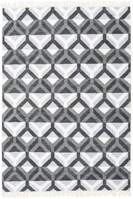 Aino Tappeto 160X230 Moderno Tessuto A Mano Azzurro/Bianco/Creme (Lana/Seta Di Bambù, India)