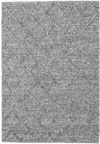 Rut - Grigio Scuro Melange Tappeto 140X200 Moderno Tessuto A Mano Grigio Chiaro/Azzurro (Lana, India)