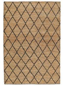 Tappeto Esterno Serena Jute - Natural/Nero Tappeto 200X300 Moderno Tessuto A Mano Grigio Chiaro/Beige (Tappeto In Iuta India)