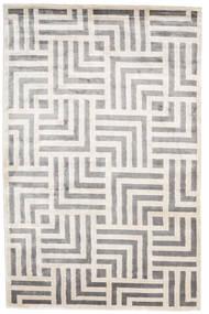 Maze Tappeto 200X300 Moderno Fatto A Mano Grigio Chiaro/Bianco/Creme ( India)