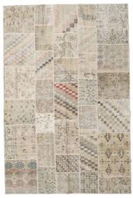 Patchwork Tappeto 198X300 Moderno Fatto A Mano Grigio Chiaro/Beige (Lana, Turchia)