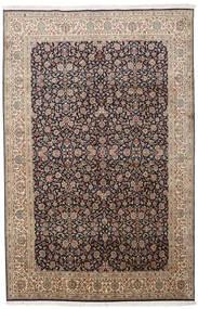 Cachemire Puri Di Seta Tappeto 164X252 Orientale Fatto A Mano Grigio Chiaro/Marrone Chiaro (Seta, India)