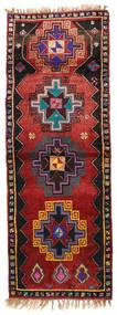 Herki Vintage Tappeto 135X373 Orientale Fatto A Mano Alfombra Pasillo Rosso Scuro/Nero (Lana, Turchia)