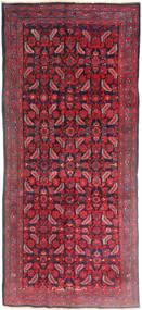 Hamadan Tappeto 137X320 Orientale Fatto A Mano Alfombra Pasillo Rosso Scuro/Rosso (Lana, Persia/Iran)
