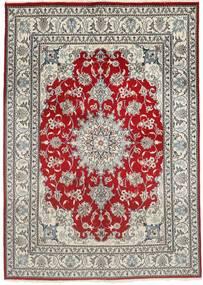Nain Tappeto 150X207 Orientale Fatto A Mano Grigio Chiaro/Rosso Scuro (Lana, Persia/Iran)