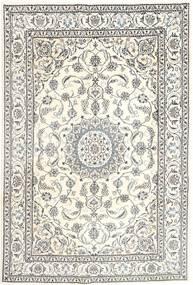 Nain Tappeto 196X293 Orientale Fatto A Mano Grigio Chiaro/Beige (Lana, Persia/Iran)