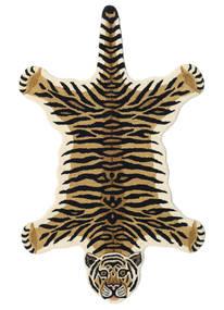 Tiger - Beige Tappeto 100X160 Moderno Blu Scuro/Beige (Lana, India)