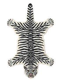 Tiger - Bianco Tappeto 100X160 Moderno Nero/Beige (Lana, India)