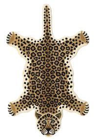 Leopard - Beige Tappeto 100X160 Moderno Beige/Nero (Lana, India)