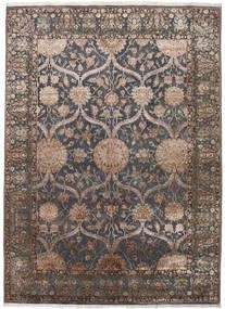 Keshan Indo Lana/Viscos Tappeto 248X342 Orientale Fatto A Mano Grigio Scuro/Grigio Chiaro (Lana/Seta, India)