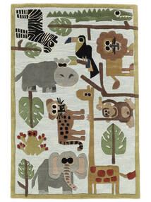 Zoo Handtufted Tappeto 170X240 Moderno Grigio Chiaro/Azzurro (Lana, India)