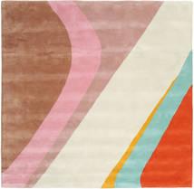 Dynamic Handtufted - Rosa Tappeto 250X250 Moderno Quadrato Beige/Marrone Chiaro Grandi (Lana, India)