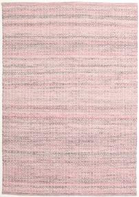 Alva - Rosa/Bianco Tappeto 140X200 Moderno Tessuto A Mano Rosa Chiaro/Violet Clair (Lana, India)
