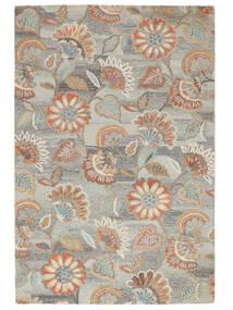Rusty Flowers - Grigio/Ruggine Tappeto 200X300 Moderno Grigio Chiaro/Beige Scuro (Lana, India)