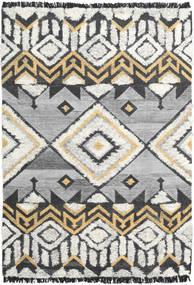 Decco Tappeto 160X230 Moderno Tessuto A Mano Grigio Chiaro/Nero (Lana, India)
