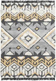 Deco Tappeto 140X200 Moderno Tessuto A Mano Grigio Chiaro/Beige Scuro/Grigio Scuro (Lana, India)