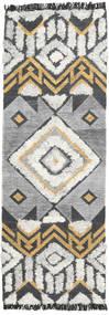 Deco Tappeto 80X250 Moderno Tessuto A Mano Alfombra Pasillo Grigio Chiaro/Grigio Scuro (Lana, India)