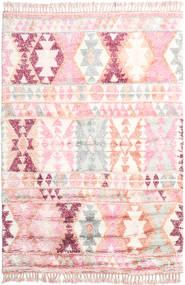 Märta - Rosa Tappeto 200X300 Moderno Fatto A Mano Rosa Chiaro/Beige (Lana, India)
