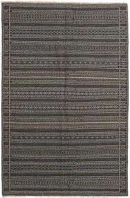 Kilim Tappeto 155X236 Orientale Tessuto A Mano Grigio Scuro/Nero/Grigio Chiaro (Lana, Persia/Iran)
