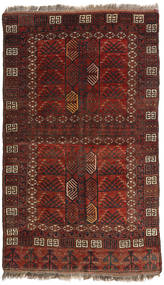 Afghan Khal Mohammadi Tappeto 129X214 Orientale Fatto A Mano Rosso Scuro/Marrone Scuro (Lana, Afghanistan)