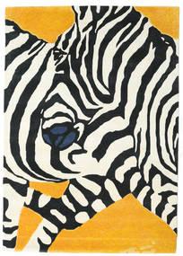 Zebra - 2018 Tappeto 160X230 Moderno Beige/Nero (Lana, India)