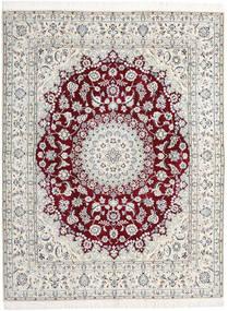 Nain 9La Tappeto 198X258 Orientale Fatto A Mano Grigio Chiaro/Beige (Lana/Seta, Persia/Iran)