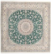 Nain 9La Tappeto 302X304 Orientale Fatto A Mano Quadrato Grigio Chiaro/Beige Grandi (Lana/Seta, Persia/Iran)