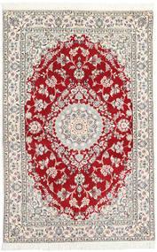 Nain 9La Tappeto 130X197 Orientale Fatto A Mano Grigio Chiaro/Beige (Lana/Seta, Persia/Iran)