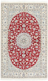 Nain 9La Tappeto 125X205 Orientale Fatto A Mano Grigio Chiaro/Beige (Lana/Seta, Persia/Iran)