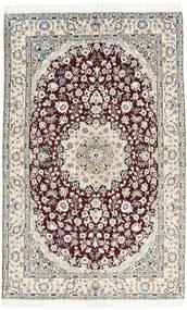 Nain 9La Tappeto 130X205 Orientale Fatto A Mano Grigio Chiaro/Marrone Scuro/Bianco/Creme (Lana/Seta, Persia/Iran)