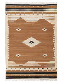 Tribal - Giallo Mostarda Tappeto 160X230 Moderno Tessuto A Mano Marrone/Marrone Chiaro (Lana, India)