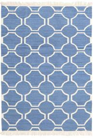 London - Blu/Bianco Sporco Tappeto 160X230 Moderno Tessuto A Mano Blu/Beige (Lana, India)