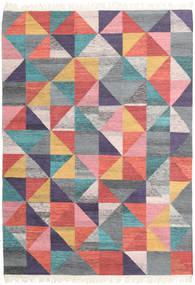 Caleido Tappeto 160X230 Moderno Tessuto A Mano Grigio Scuro/Rosa Chiaro (Lana, India)