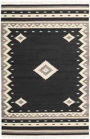 Tribal - Nero Tappeto 200X300 Moderno Tessuto A Mano Nero/Beige (Lana, India)