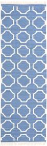 London - Blu/Bianco Sporco Tappeto 80X250 Moderno Tessuto A Mano Alfombra Pasillo Blu/Bianco/Creme (Lana, India)
