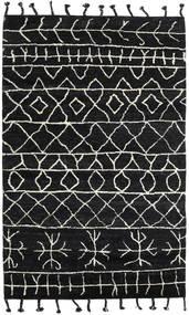 Moss Berber - Nero Tappeto 180X275 Moderno Fatto A Mano Nero (Lana, India)