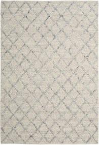 Rut - Argento/Grigio Melange Tappeto 200X300 Moderno Tessuto A Mano Grigio Chiaro/Beige Scuro (Lana, India)