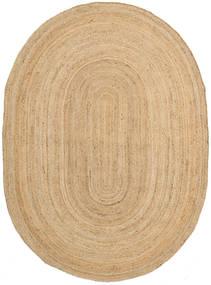 Frida Oval - Natural Tappeto 140X200 Moderno Tessuto A Mano Beige Scuro/Beige ( India)