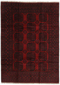 Afghan Tappeto 200X279 Orientale Fatto A Mano Rosso Scuro (Lana, Afghanistan)