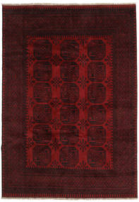 Afghan Tappeto 199X281 Orientale Fatto A Mano Rosso Scuro (Lana, Afghanistan)