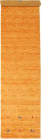 Gabbeh Loom Two Lines - Arancione Tappeto 80X350 Moderno Alfombra Pasillo Arancione/Marrone Chiaro (Lana, India)