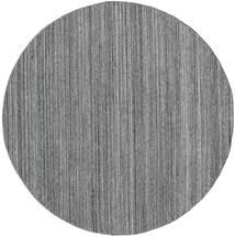 Petra - Dark_Mix Tappeto Ø 200 Moderno Tessuto A Mano Rotondo Grigio Chiaro/Grigio Scuro/Blu ( India)