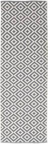 Torun - Grigio/Neutral Tappeto 80X300 Moderno Tessuto A Mano Alfombra Pasillo Grigio Chiaro/Violet Clair (Cotone, India)