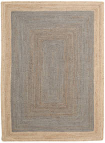 Tappeto Esterno Frida Frame - Grigio/Natural Tappeto 160X230 Moderno Tessuto A Mano Grigio Chiaro/Beige (Tappeto In Iuta India)