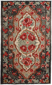 Kilim Rose Moldavia Tappeto 191X317 Orientale Tessuto A Mano Rosso Scuro/Nero (Lana, Moldavia)